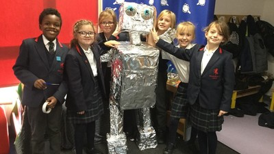 Year 4 work about 'The Coming of the Iron Man'