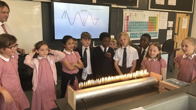 Science lesson at Invicta Grammar School