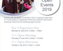 IGS Year 5 open events July 2019